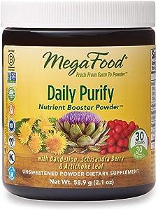 MegaFood, Daily Purify Booster Powder, Gentle Elimination and Detoxification Support, Liver Health Supplement Vegan, 2.1 oz (30 Servings) (FFP)