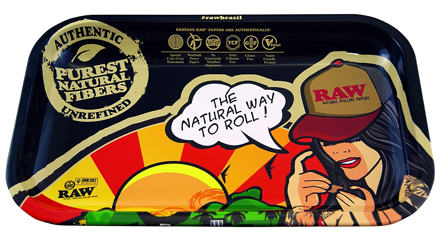 RAW Rolling Tray Brazil Girl - 11 x 7 / Small