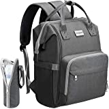 COSYLAND Diaper Nappy Bag Backpack for Mom with USB Charge (Grey)