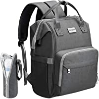 Cosyland Diaper Bag Backpack for Mom Travel Backpack Nappy Bags Large Capacity Maternity Bag with USB Charge Port Stroller Strap Wide Shoulder Strap Insulated Pockets Baby Shower Gift (Grey)