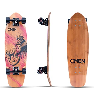 Omen Boards House 'O' Lobster Longboard Skateboard Cruiser Complete : Sports & Outdoors