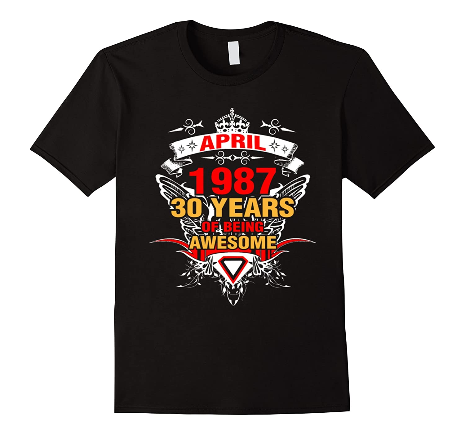 Made In 1987 30th Birthday 30 Years Old Gift T-Shirt-TH