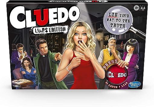 Hasbro Gaming Cluedo Liars Edition Juego de Mesa; Juego de Misterio de Asesinato para niños a Partir de 8 años; Exponer Detectives deshonestos con el botón mentiroso: Amazon.es: Juguetes y juegos