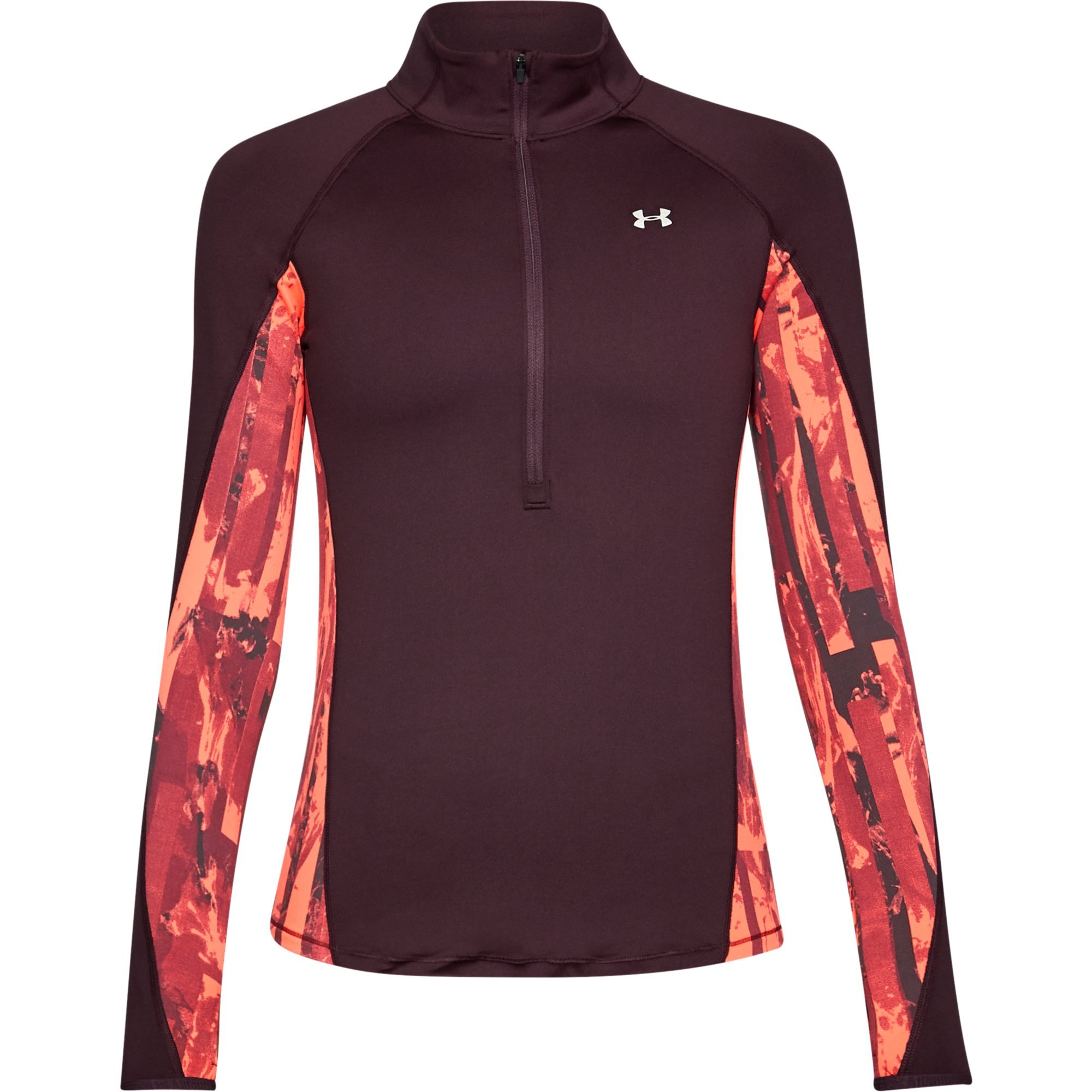 Under Armour ColdGear Armour Printed ½ Zip XS Raisin RED by Under Armour (Image #1)