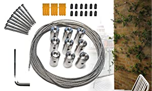 Cable Trellis System for Climbing Plants, Vines and Green Wall