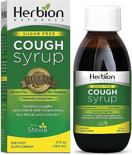 Herbion Naturals Jarabe Para La Tos Sin Azúcar Con Stevia 5 Fl Oz Naturalmente Sabroso Alivia La Tos Alivia La Garganta Promueve La Función Bronquial Y Pulmonar Saludable Health