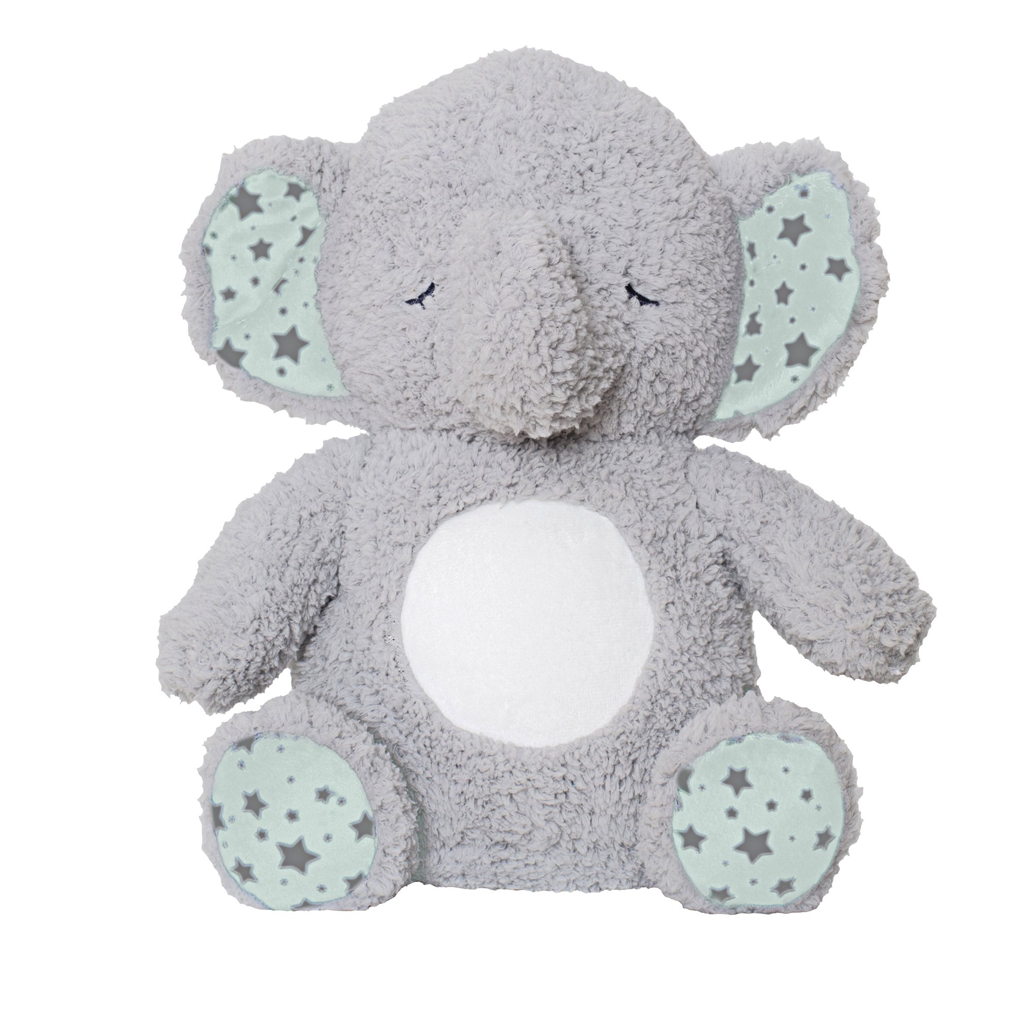 Soft Dreams Elephant Music and Glow Soother, Grey/Mint