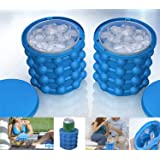 New Ice Cube Maker Genie silicone, Ice bucket The Revolutionary Space Saving Ice Cube Maker