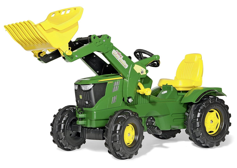 Rolly Toys 611096 Farmtrac John Deere 6210R mit Frontlader - John Deere Trettraktor
