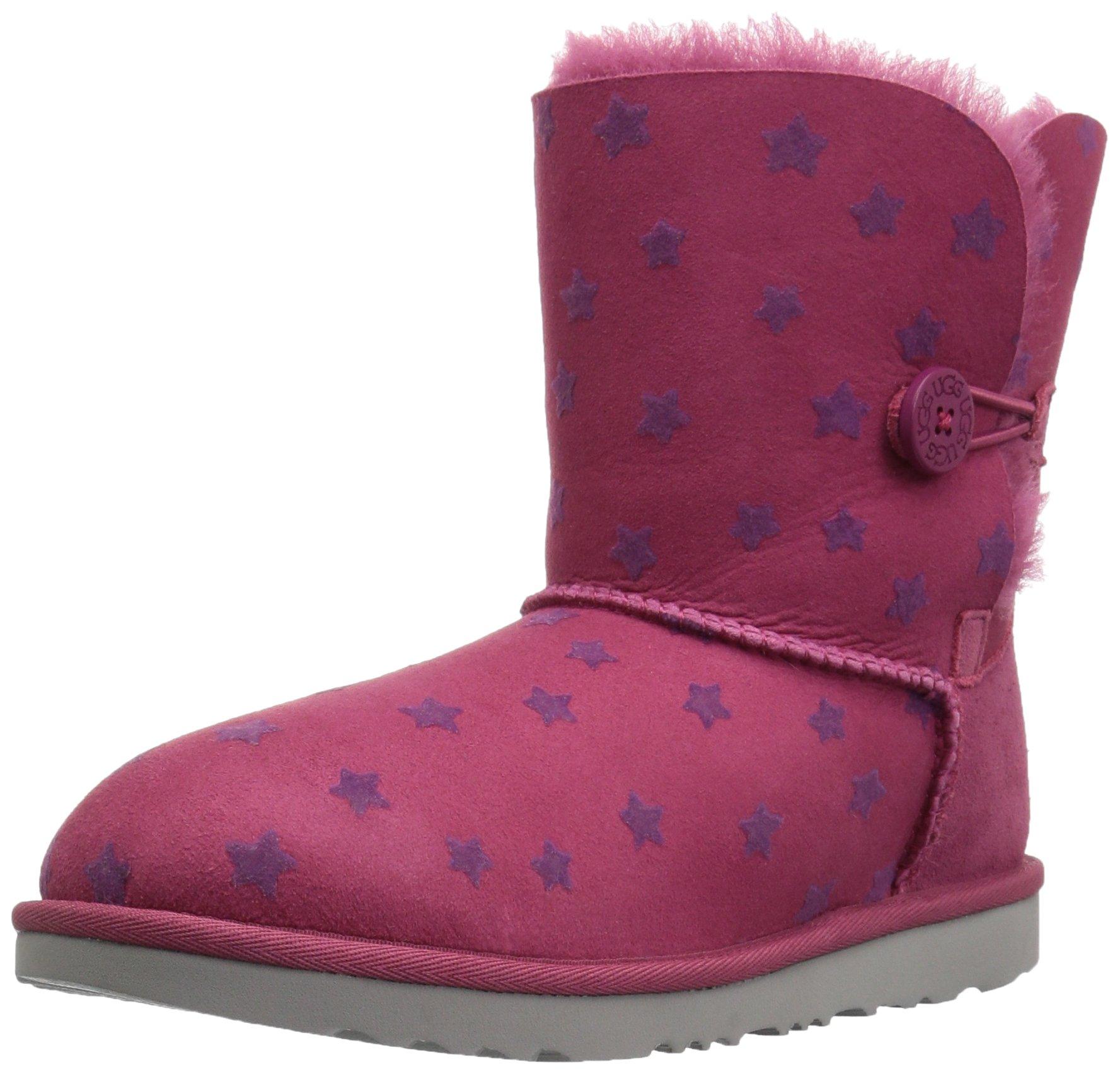 UGG Girls K Bailey Button II Stars Pull-On Boot, Brambleberry, 13 M US Little Kid