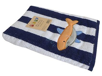 Toalla Grande para bebés/niños tiburón ~ ~ Toalla Niño Toalla Toalla de playa