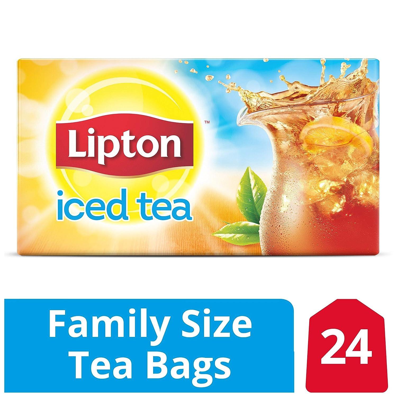 Lipton - Bolsas de té de tamaño familiar, 24 unidades, color ...