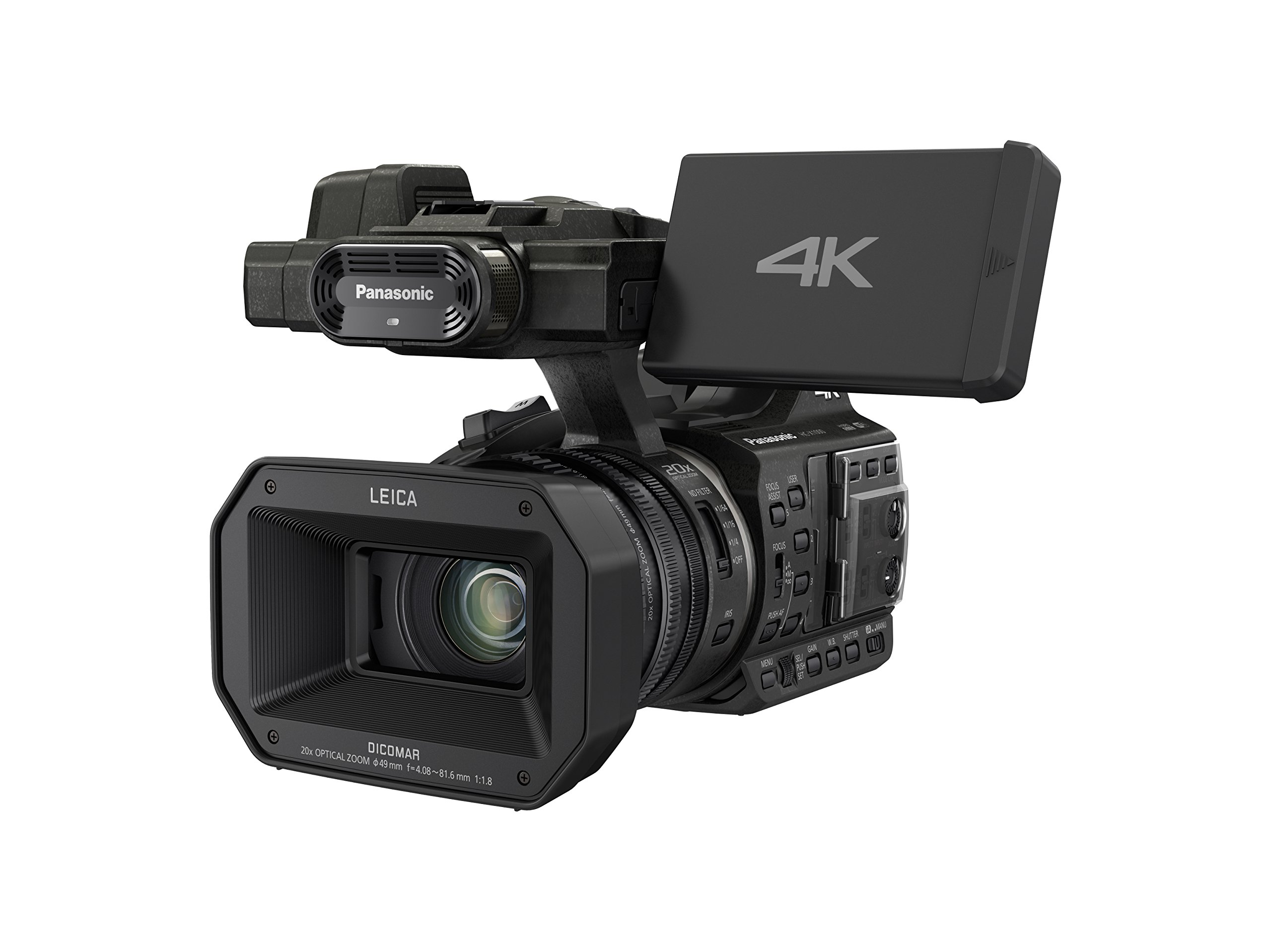 Panasonic HC-X1000 4K Ultra HD 60p/50p Professional Camcorder, 20x Optical Zoom