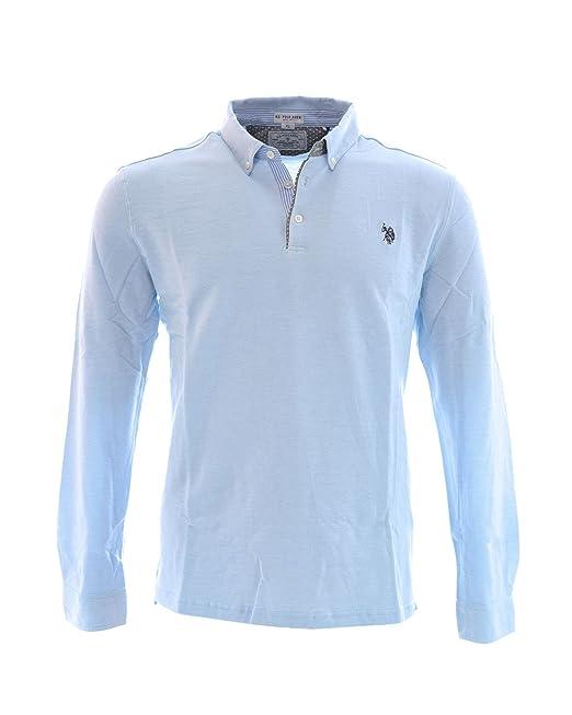 US Polo Association - Polo - Manga Larga - Para Hombre Azul Claro ...