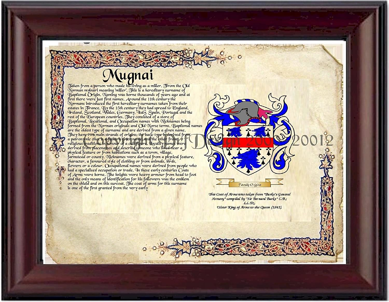 B002OT2T1S Mugnai Coat of Arms/ Family Crest on Fine Paper and Family History 819nCeetzLL