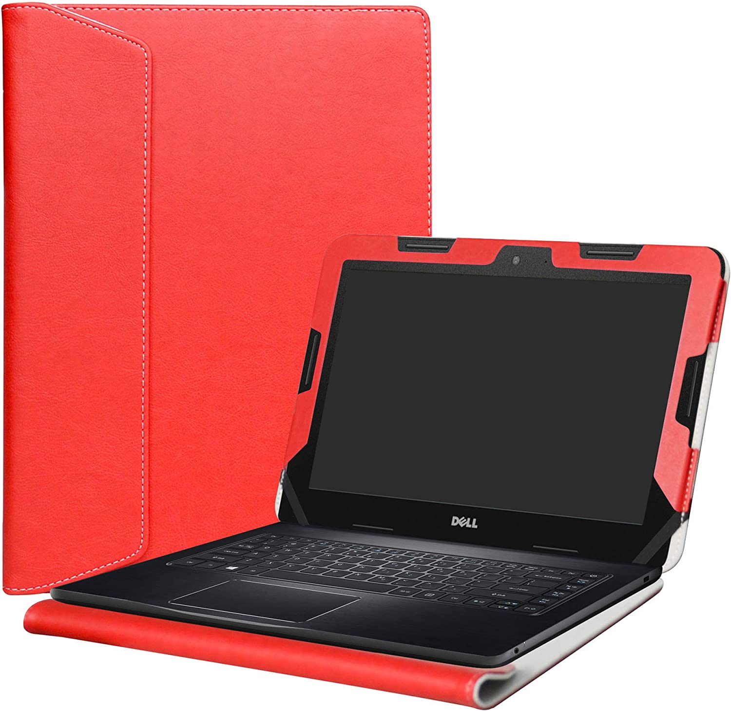 "Alapmk Protective Case Cover for 11.6"" Dell Chromebook 11 3189 3180/Inspiron Chromebook 11 3181/Latitude 11 3180 3190 Education Series Laptop(Note:Not fit Dell Chromebook 11 5190 3120),Red"