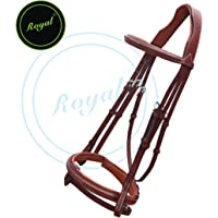 Runners Fancy Raised Bridle with PP Rubber Reins./
