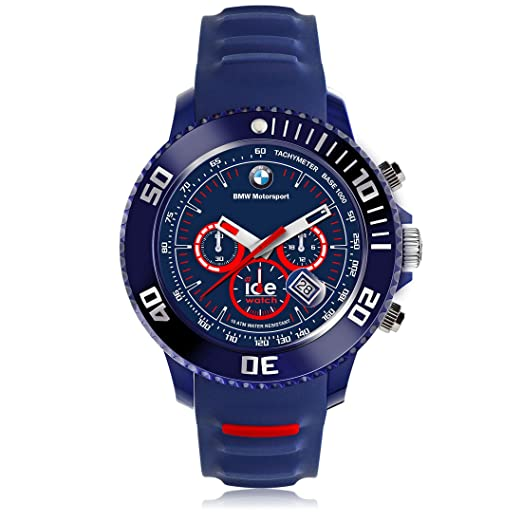 Ice-Watch - BMW Motorsport (sili) Blue Red - Men s wristwatch with silicon  strap - Chrono - 001132 (Large)  Amazon.co.uk  Watches 2be3221213