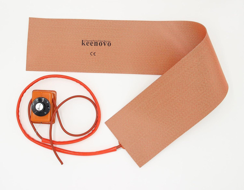 6 X 36 650W 120V w//Rainbow Thermostat ~200 Deg C KEENOVO Silicone Heater Heat Blanket for Musical Instrument Guitar Side Bending Machines Custom Design Welcome