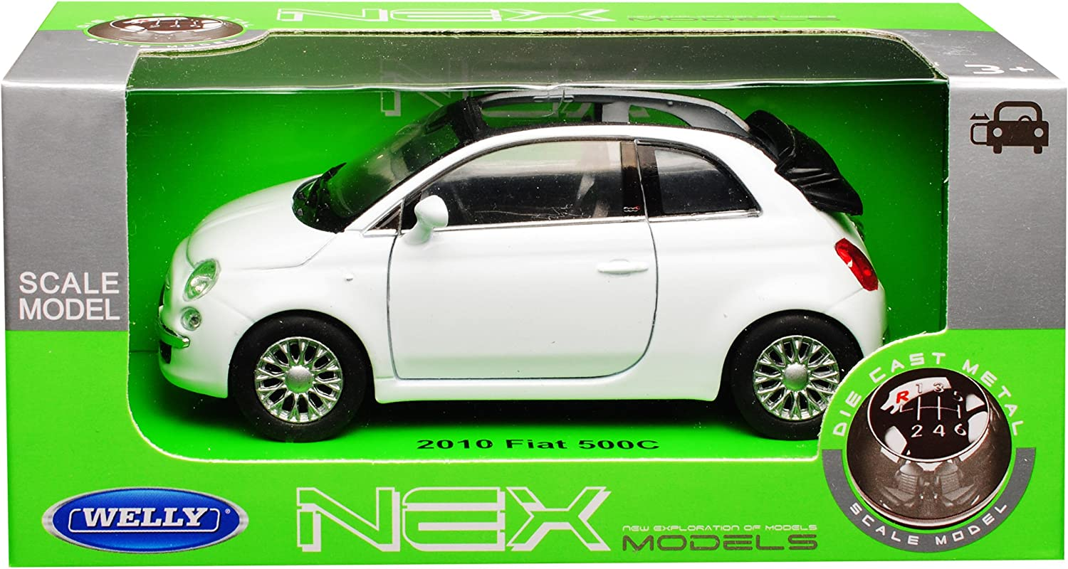 Fiat 500 Nuova Weiss Creme Beige Coupe Ab 2007 1//43 New Ray Modell Auto mit od..