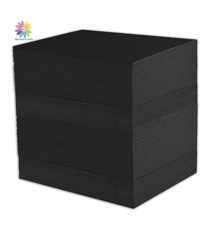 Mat Board Center, Pack of 50 11x14 3/16'' Black Foam Core Backing Boards