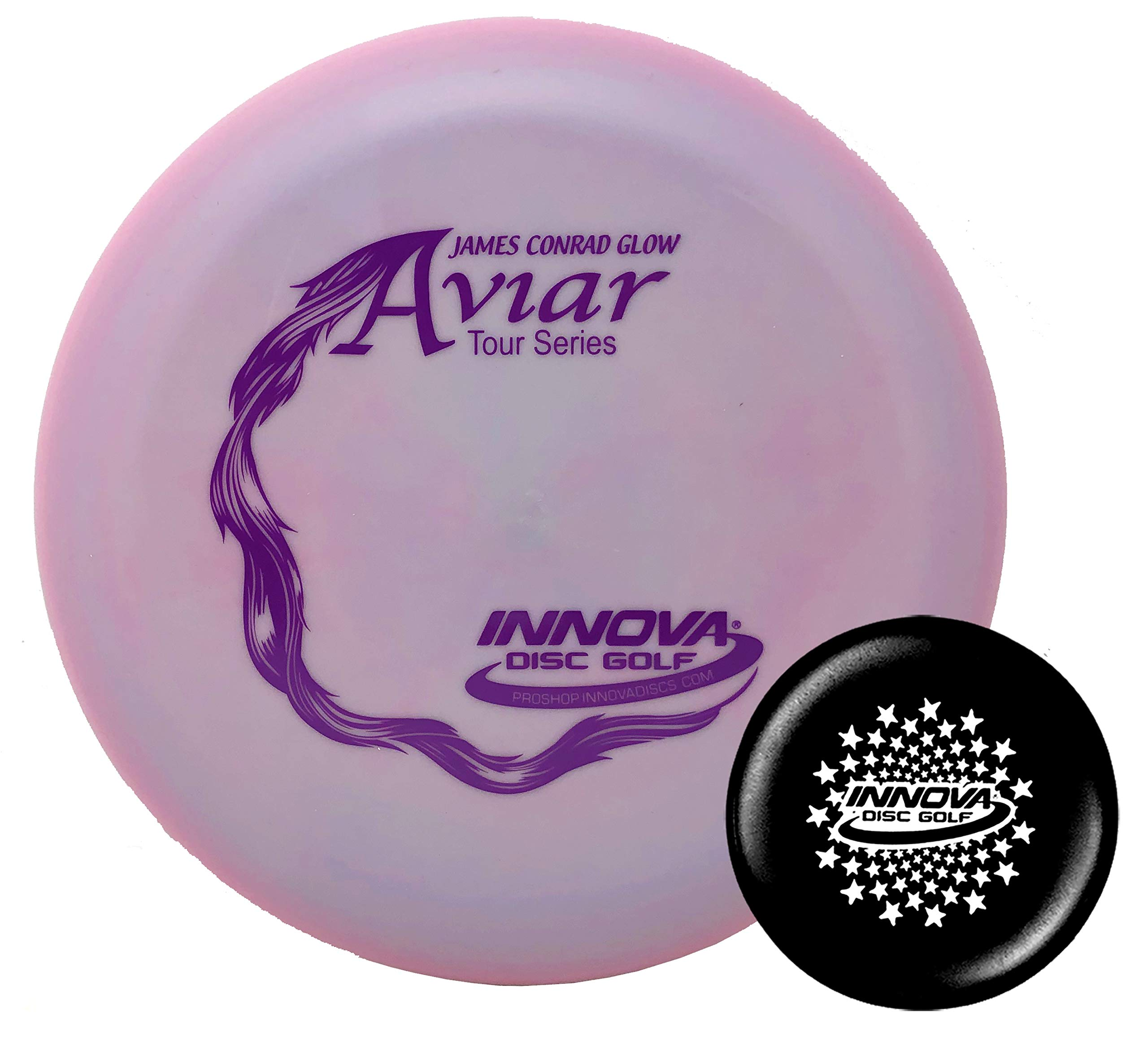 Innova Disc Golf Pro Glow Aviar James Conrad Tour Series 2019 Big Bead with Limited Edition Stars Stamped Innova Mini - Colors Will Vary - 173-175g by Innova Disc