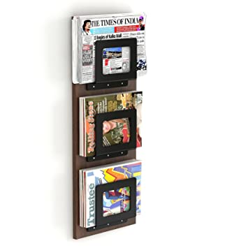 Bluewud Charlie Magazine Holder Rack Cum Newspaper Stand