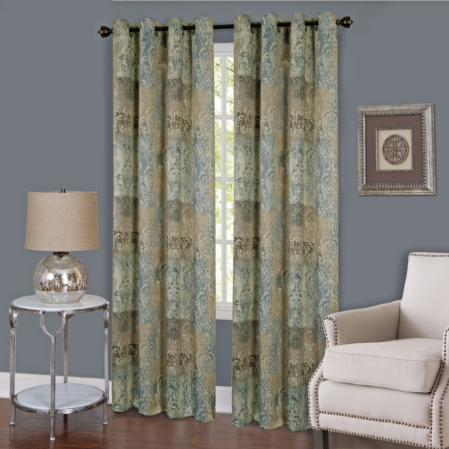 Achim Home Furnishings Vogue Grommet Window Curtain Panel, 50