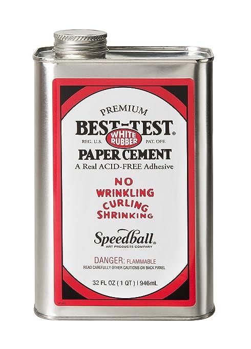 Best-Test White Rubber paper Cement, 1-quart by best-Test ...