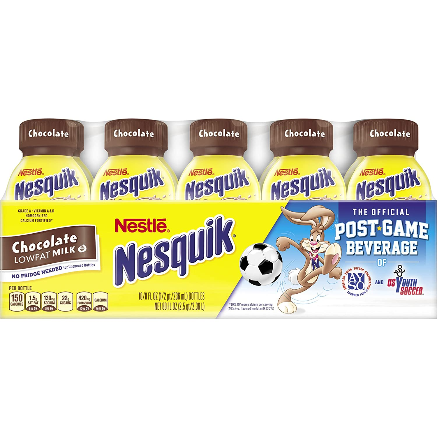 Nesquik Ready To Drink Milk, Chocolate, 8 Ounce., 10 Count: Amazon ...