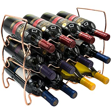 Amazoncom Sorbus 3 Tier Stackable Wine Rack Classic Style Wine