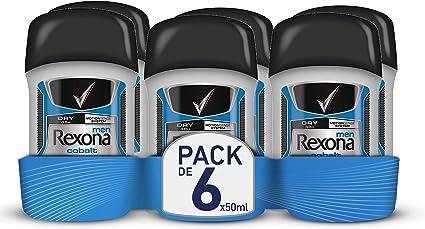 Rexona Cobalt Dry, Desodorante Antitranspirante, 50 ml, 6 Unidades ...
