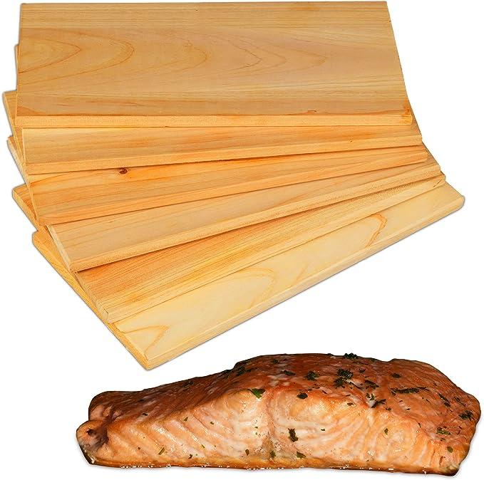 Set Di 3 Tavole Per Affumicatura In Puro Legno Di Cedro Di Sj Tavole Per Grigliare In Cedar Rosso 100 Legno Naturale Di Aroma Piastre Per Affumicare O Grigliare Assi Per Grigliare