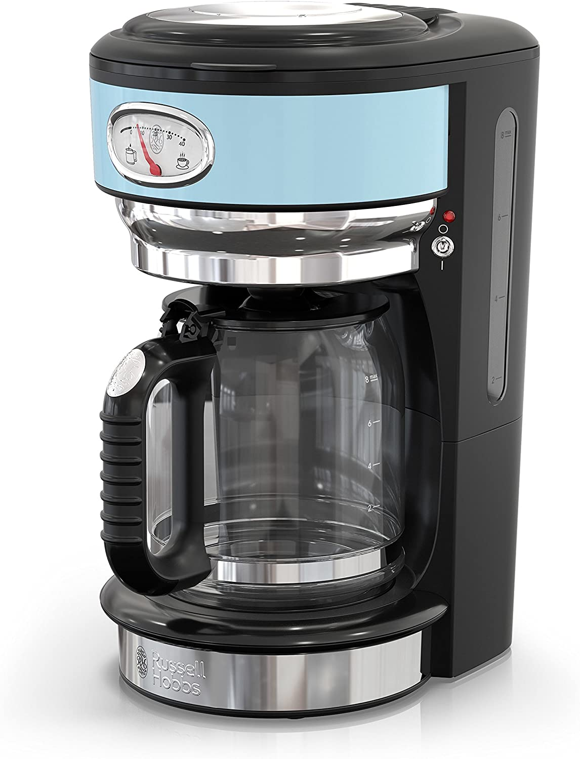 Russell Hobbs CM3100BLR Retro Style Coffeemaker, 8-Cup, Blue