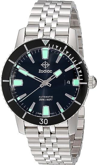 Zodiac Herren Armbanduhr zo9250 Heritage Automatik Edelstahl