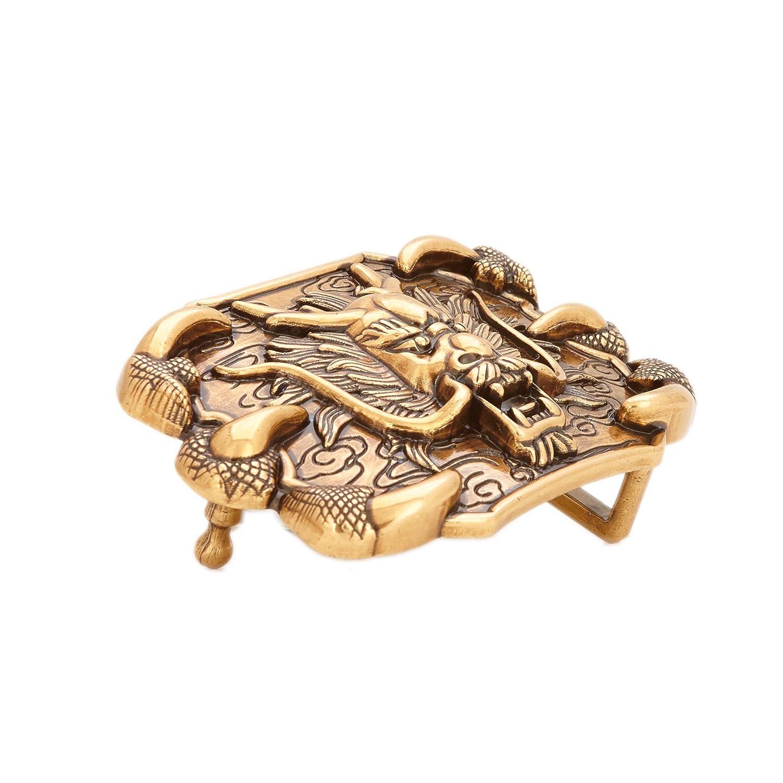 Gurscour Western Lion Belt Buckle Bronze Color