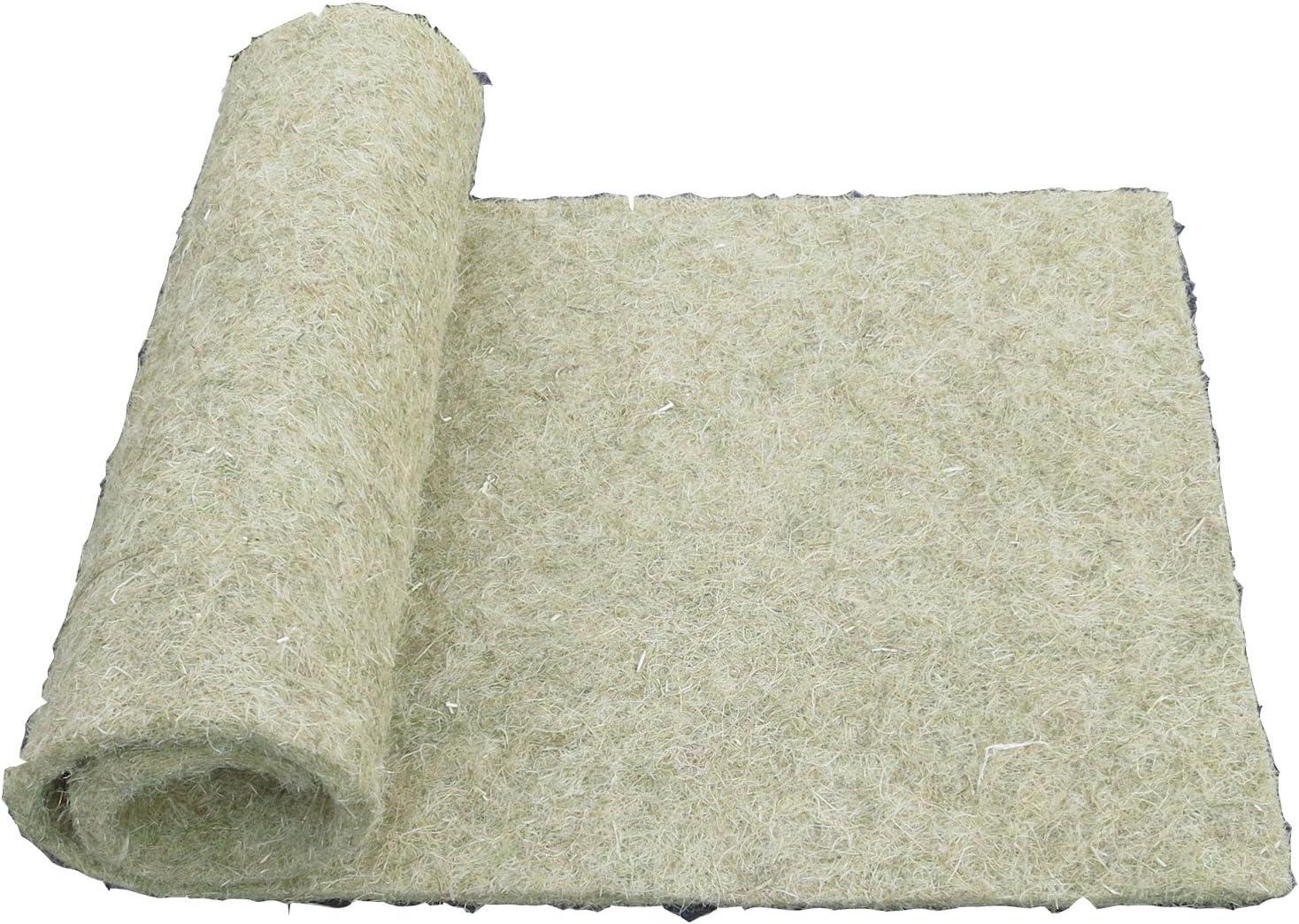 pemmiproducts Alfombra para roedores Hecha de 100% de cáñamo, 120 x 60 cm 10mm de Espesor, Alfombra para roedores Adecuada como Revestimiento de Piso en Jaula