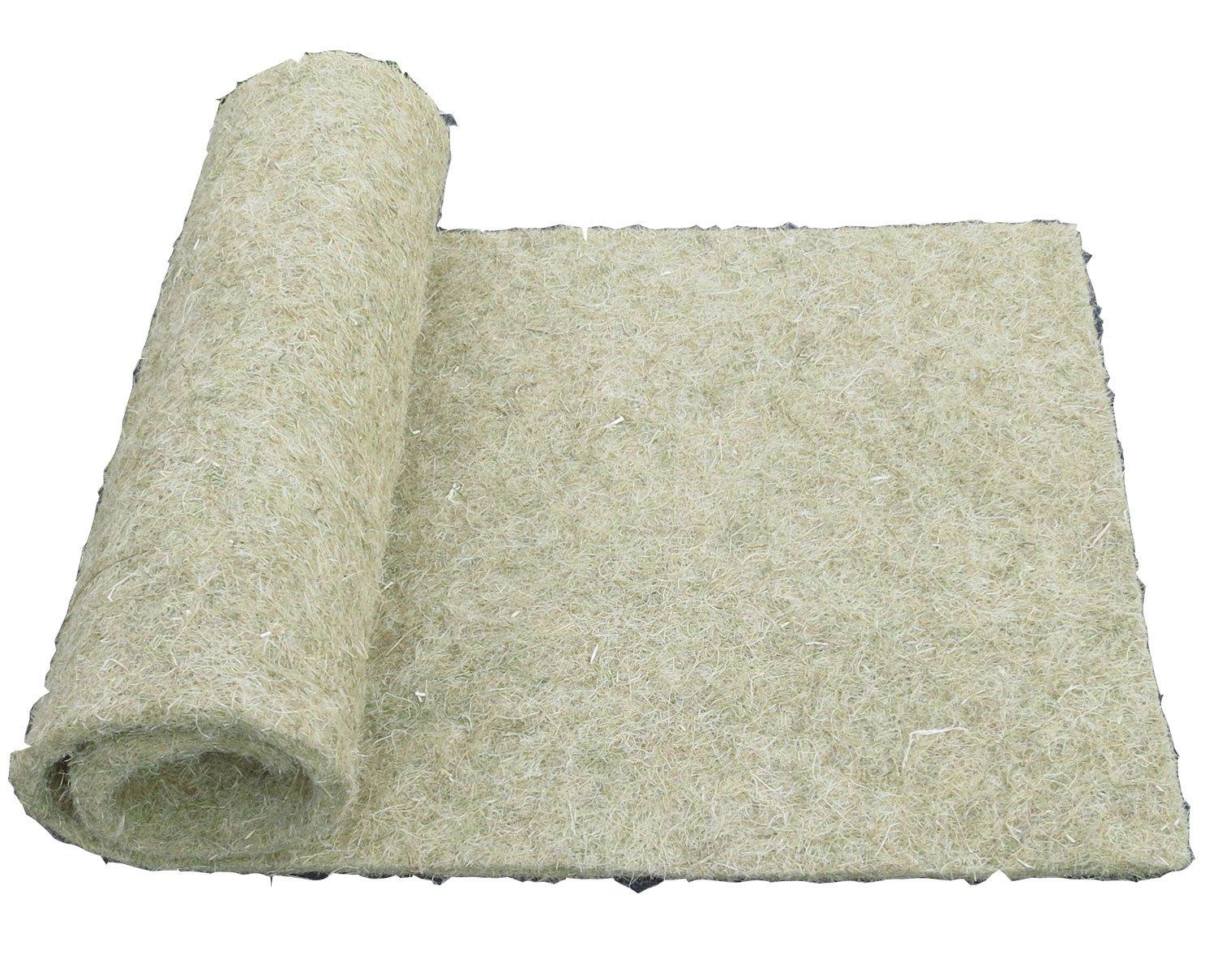 Alfombra para roedores hecha de 100% de cáñamo, 100 x 40 cm 10 mm de espesor, alfombra para roedores adecuada como revestimiento de piso en jaula, p. para conejos, conejillos de Indias, hamsters, ratas, degus y otros roedores. pemmiproducts