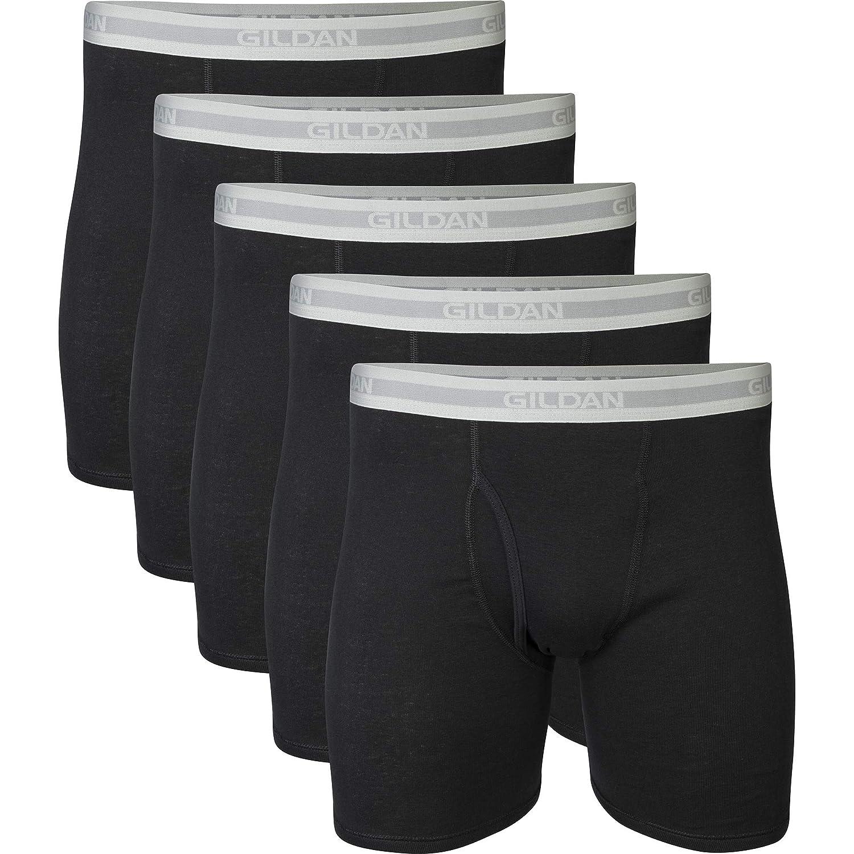 Gildan Mens Regular Leg Boxer Brief Multipack