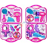 Filles Toy Vanity Beauty Cosmetic Bag Carry Case Sèche-cheveux Make Up Gift Set