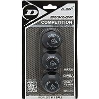 Dunlop Comp 3Bbl Bolas de Squash, Unisex