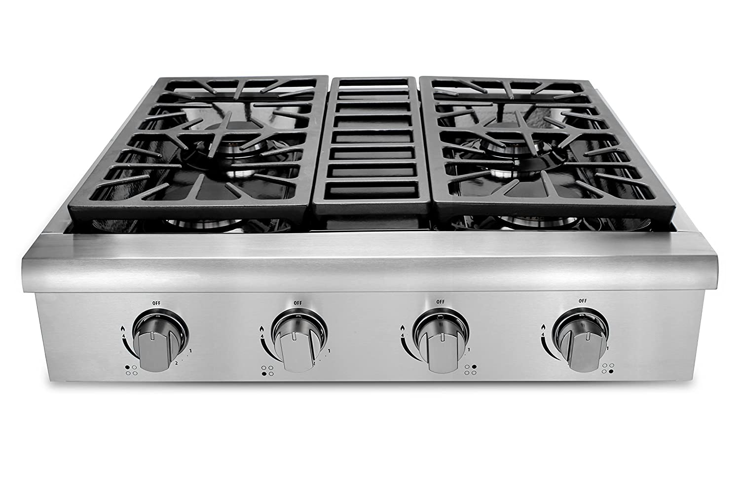 amazon thorkitchen hrt3003u 30 pro style gas rangetop with 4 sealed burners stainless steel appliances