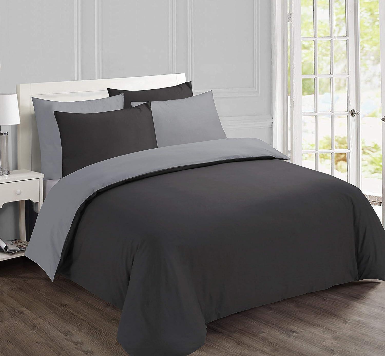 Vision Anna Bettbezug mit 2 passenden Kissenbez/ügen Beige 260 x 240 cm Baumwolle