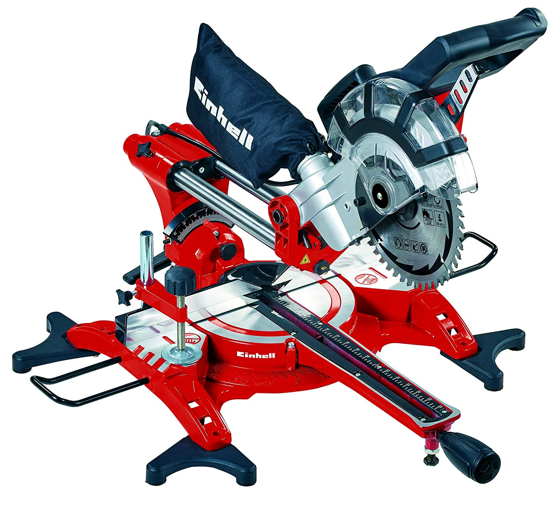 Einhell Scie /à onglet radiale TC-SM 2534 Dual 2350 W, Largeur de coupe maximale : 340 mm, T/ête de scie inclinable