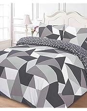 Dreamscene formes Parure de lit avec housse de couette taie d'oreiller Parure de lit, Coton/Polyester, Noir, double
