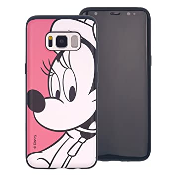 Funda Galaxy S8 Plus [Protección híbrida contra caídas] Disney Minnie Mouse Linda Doble Capa Hybrid Carcasas [TPU + PC] Parachoques Cubierta para [ ...