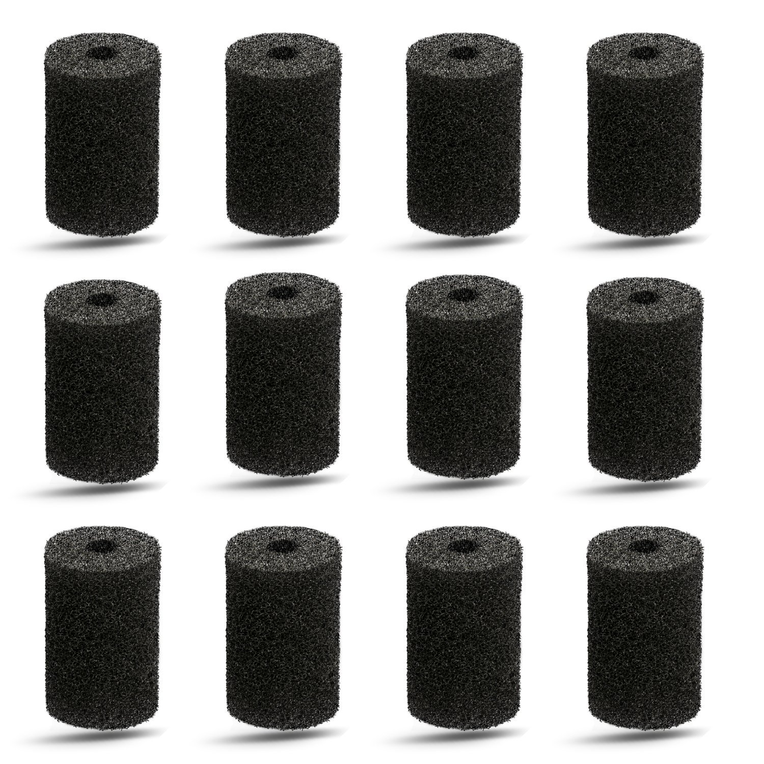 Pool Hose Tail scrubbers,12 Pack Tail Sweeps Scrubber Replacement High Density Sweep Hose Scrubber Pool Pre-Filter Intake Sponge as Polaris Pool Cleaner Parts Fits for Polaris Vac-Sweep Pool Cleaner