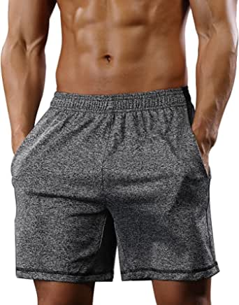 Gash Hao Athletic Gym Shorts Mens Workout Running Bodybuilding Quick Dry Lightweight Sport Training Short