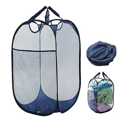 631f81386eee Clothes Basket Laundry Hamper Pop Up Clothing Hamper Bag with ...