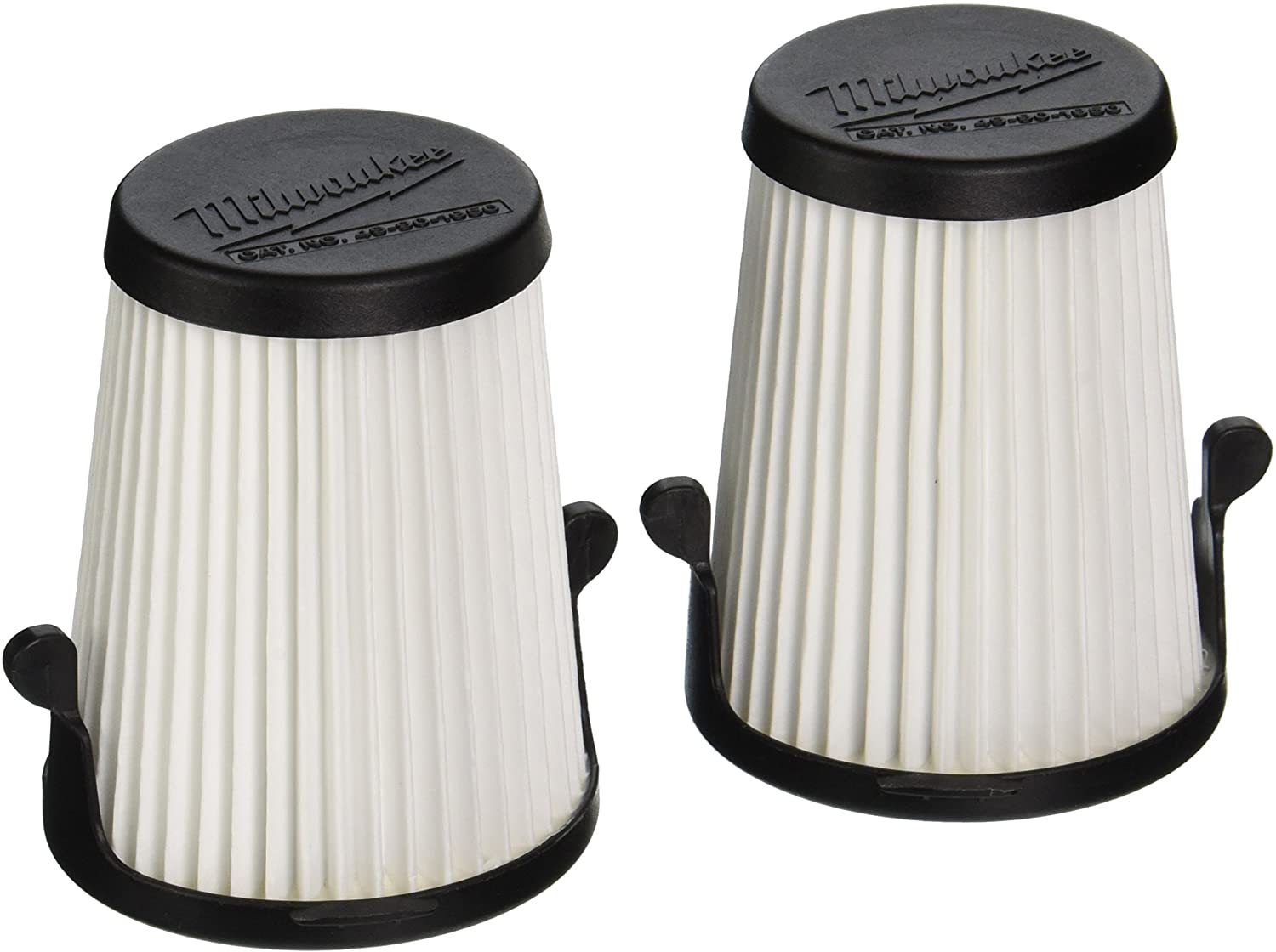 "Milwaukee Genuine OEM 49-90-1950 3"" Replacement Dry Filters for M12 Compact Vacuum (2 Pack)"